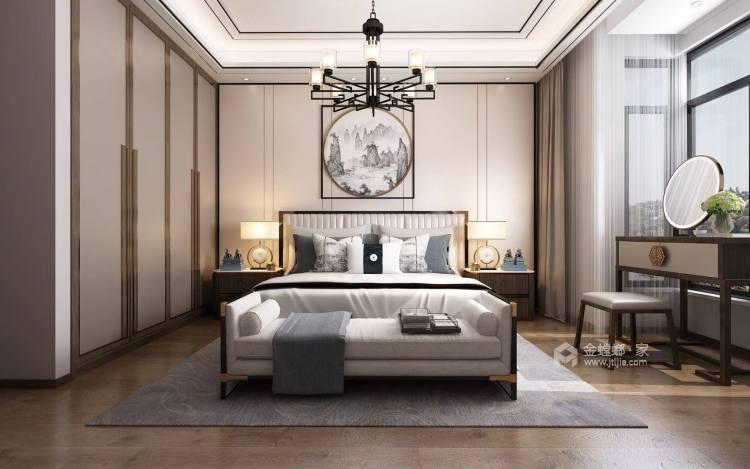 176㎡新中式韵雅 | 此身安处是吾家-卧室效果图及设计说明