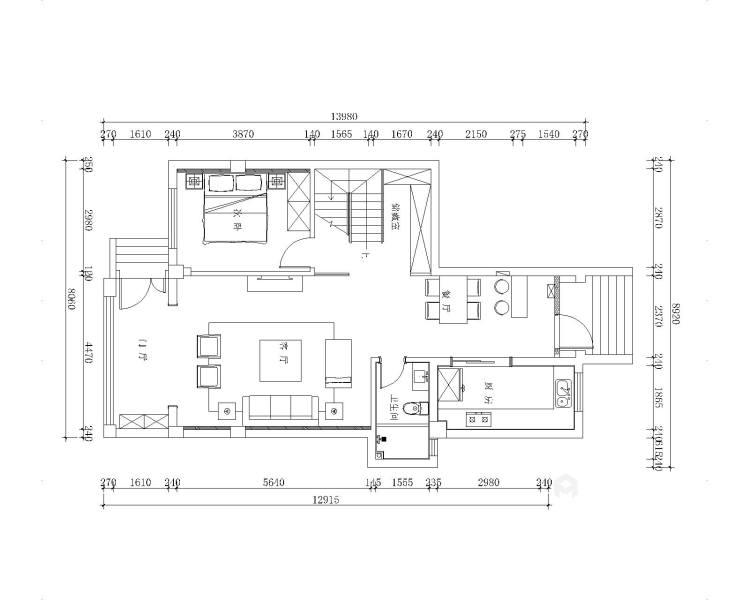 简洁、纯粹的生活格调-平面设计图及设计说明