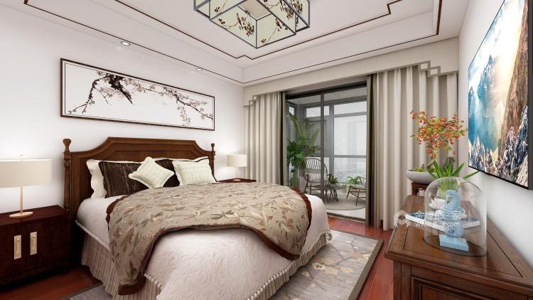 深沉的东方意境   静雅的书香门第-卧室效果图及设计说明