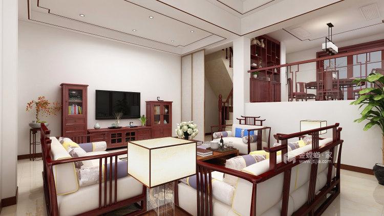 深沉的东方意境   静雅的书香门第-客厅效果图及设计说明