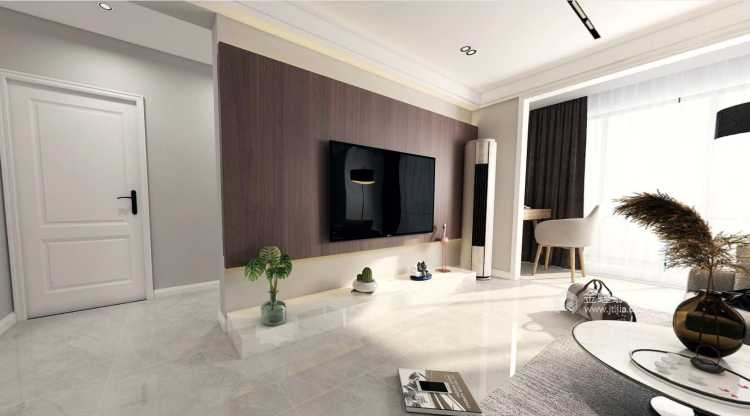 95㎡现代风 阳光下的慵懒-客厅效果图及设计说明