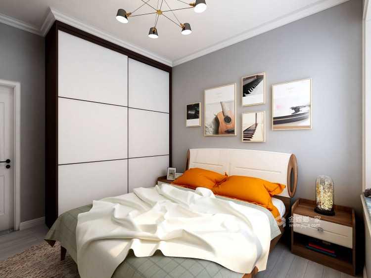 95㎡现代风 阳光下的慵懒-卧室效果图及设计说明