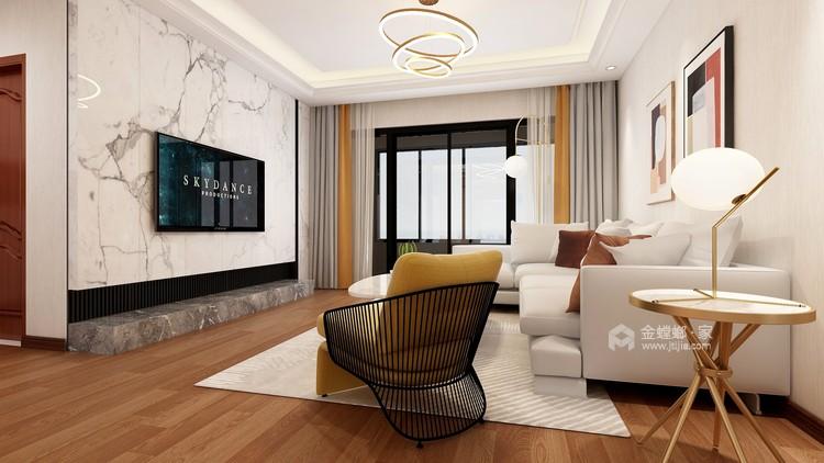 轻奢华 · 新时尚——140平现代轻奢软装案例-客厅效果图及设计说明