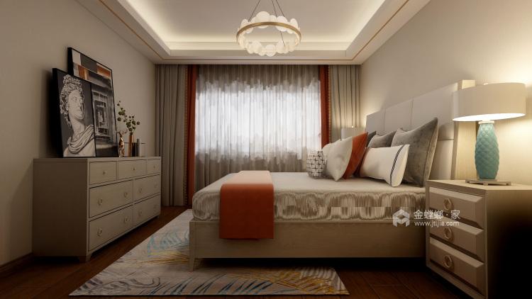 休闲浪漫的小时光——美式轻奢软装-卧室效果图及设计说明