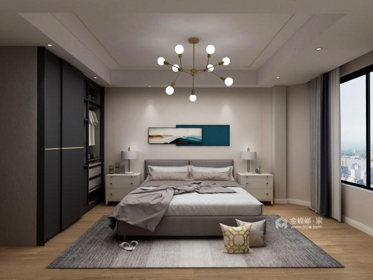 """来自时尚灰色系与金属明亮系的""""火花""""-卧室效果图及设计说明"""
