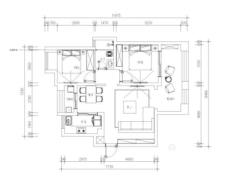 十方界4-2-14-2-平面设计图及设计说明