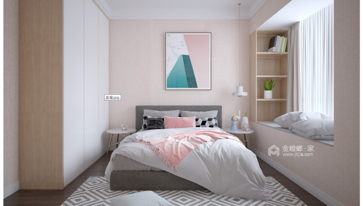 十方界4-2-14-2-卧室效果图及设计说明