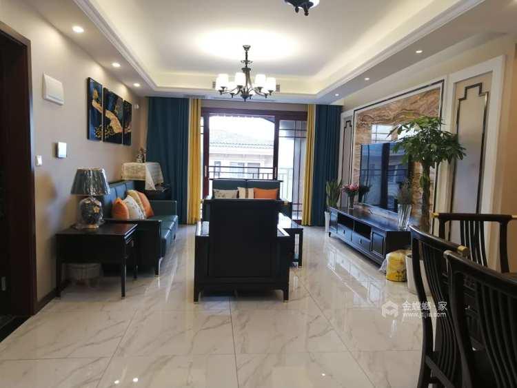 新中式-客厅效果图及设计说明