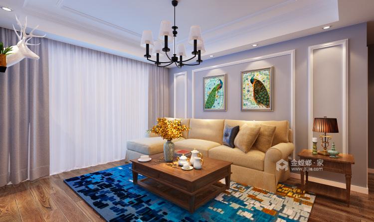 现代简欧风-客厅效果图及设计说明