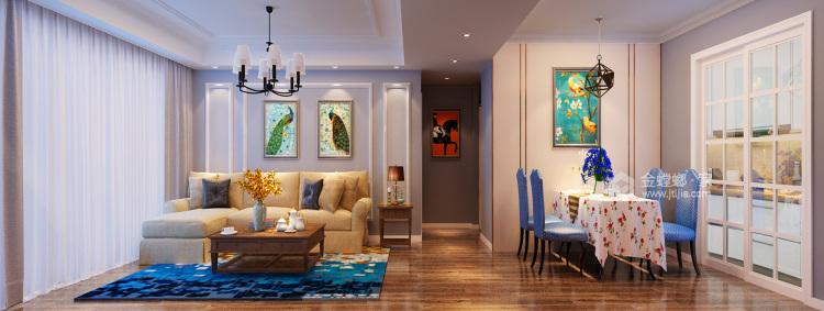 现代简欧风-餐厅效果图及设计说明