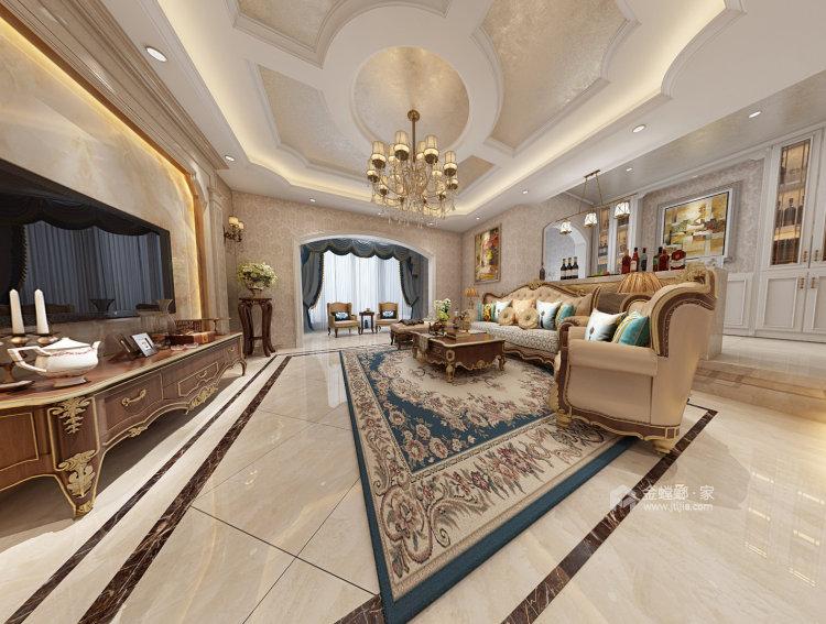 龙湾庄园李姐雅居-客厅效果图及设计说明