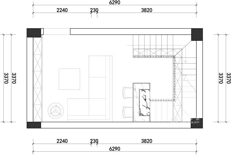 胡桃木色现代轻奢    设计规划优雅的未来生活-平面设计图及设计说明
