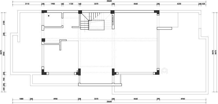 胡桃木色现代轻奢    设计规划优雅的未来生活-业主需求&原始结构图