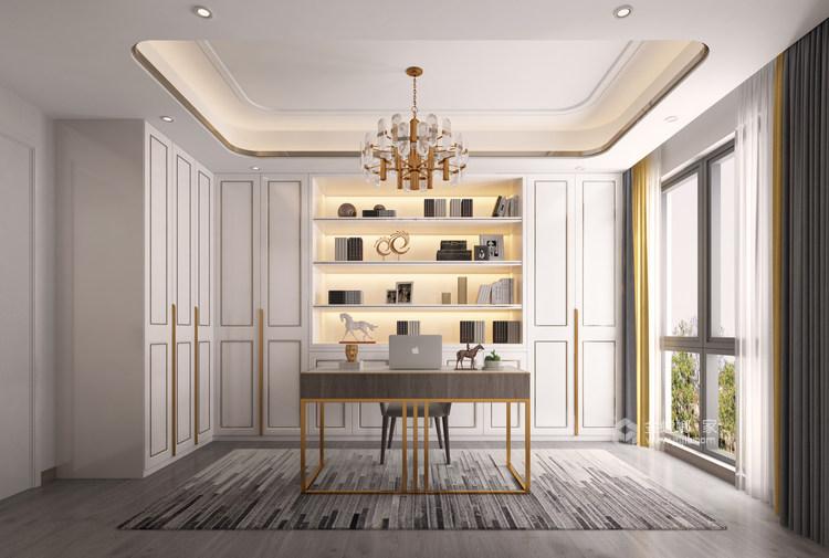 胡桃木色现代轻奢    设计规划优雅的未来生活-书房