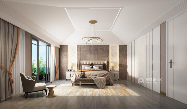胡桃木色现代轻奢    设计规划优雅的未来生活-卧室效果图及设计说明