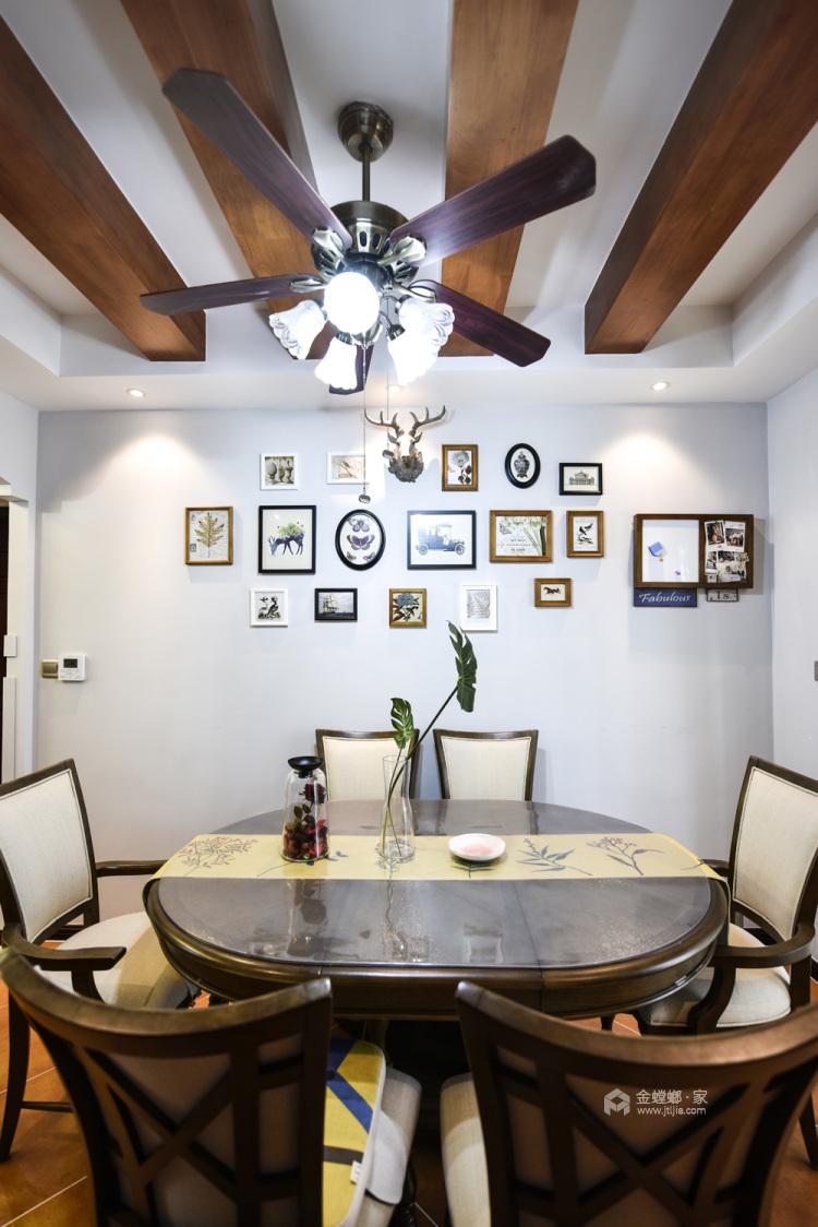 美式轻奢,将高级质感进行到底-餐厅效果图及设计说明