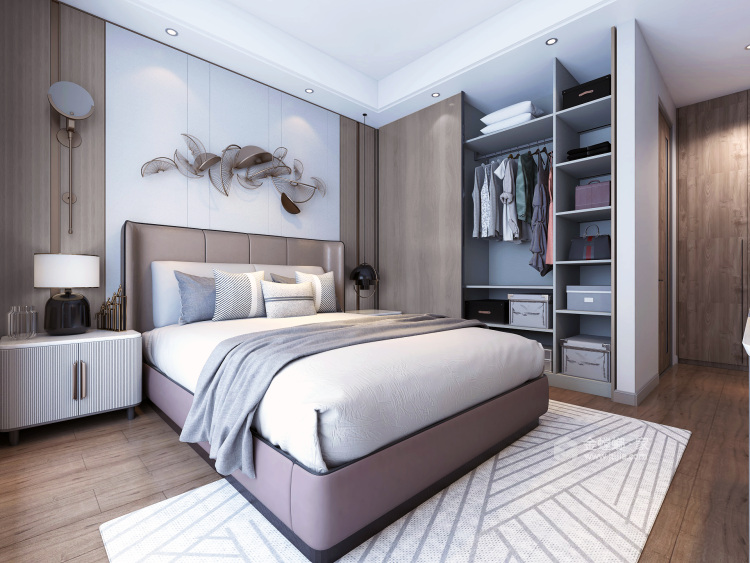 现代轻奢-卧室效果图及设计说明