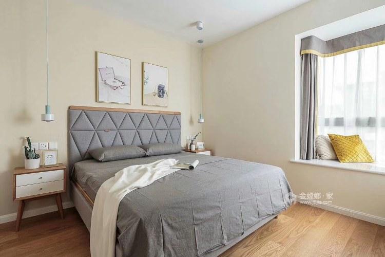 两室一厅北欧风-卧室效果图及设计说明