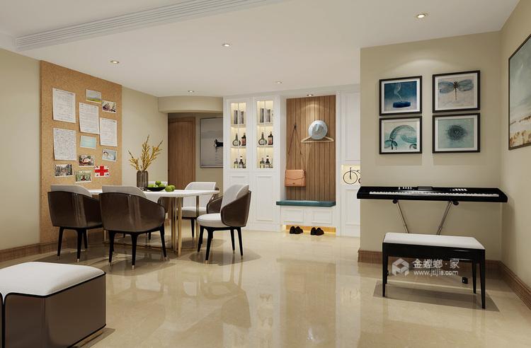 105㎡三室两厅现代简约风格-餐厅效果图及设计说明