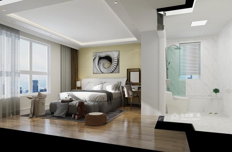 105㎡三室两厅现代简约风格-卧室效果图及设计说明