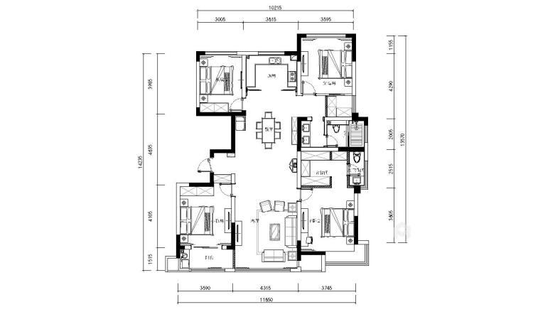 永远的现代主义-平面设计图及设计说明