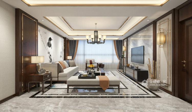 永远的现代主义-客厅效果图及设计说明