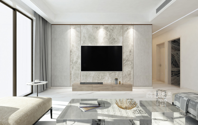 时尚现代,简约含蓄-客厅效果图及设计说明