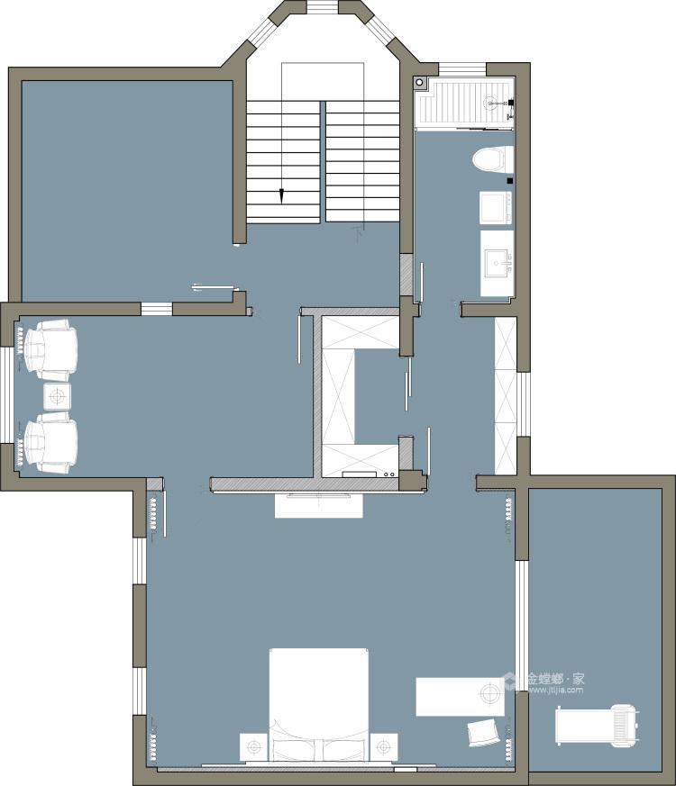 庄重大气的美式大宅-平面设计图及设计说明