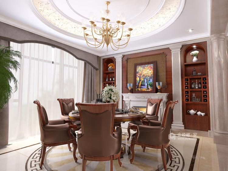 庄重大气的美式大宅-餐厅效果图及设计说明