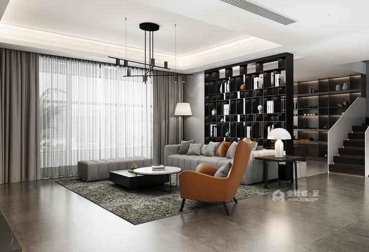克制的温柔-客厅效果图及设计说明