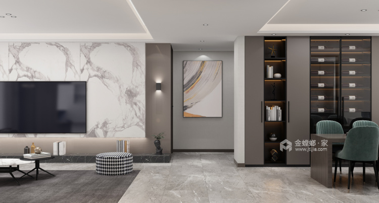 清风徐来,花自盛开-客厅效果图及设计说明