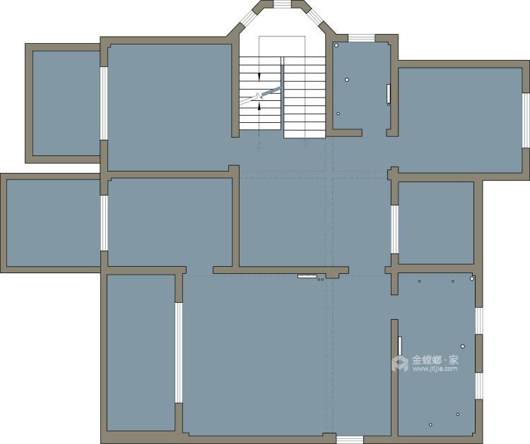 庄重大气的美式大宅-业主需求&原始结构图