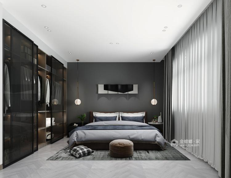克制的温柔-卧室效果图及设计说明