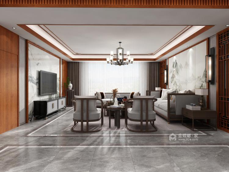 中式风格-客厅效果图及设计说明