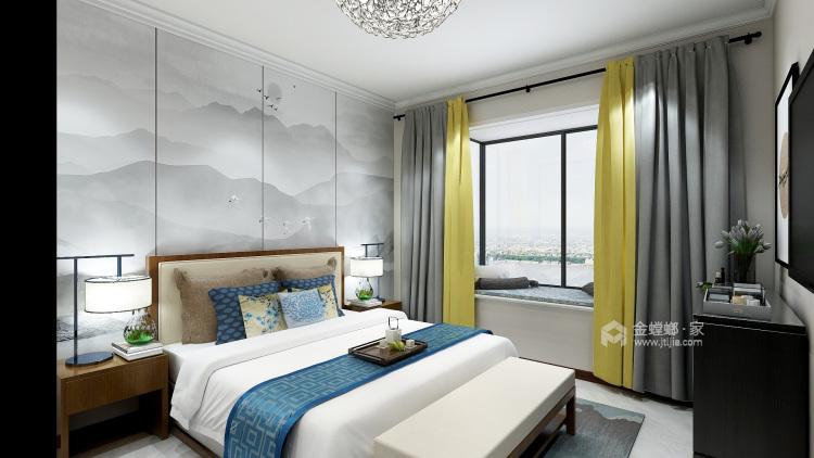 简约新中式-卧室效果图及设计说明
