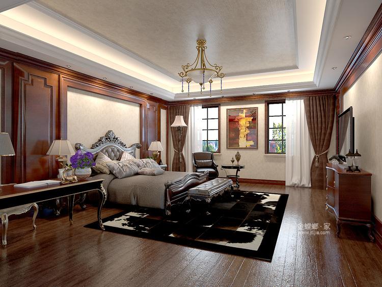 庄重大气的美式大宅-卧室效果图及设计说明
