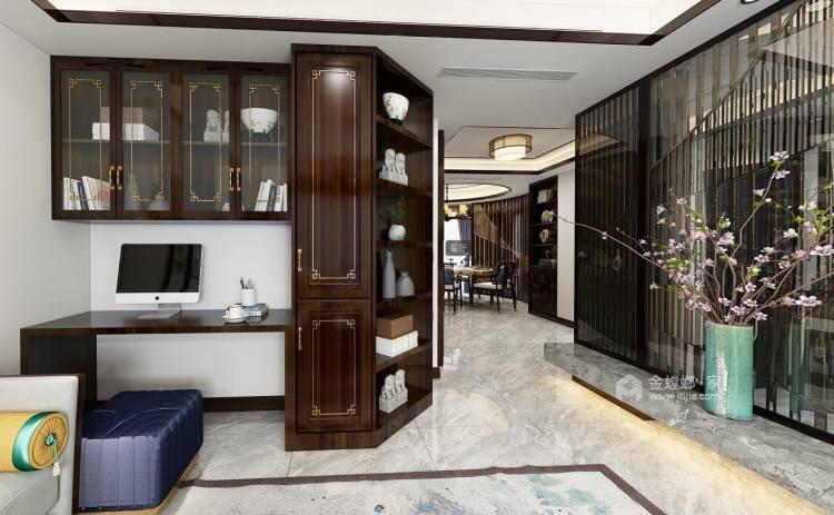 新中式古典风-客厅效果图及设计说明