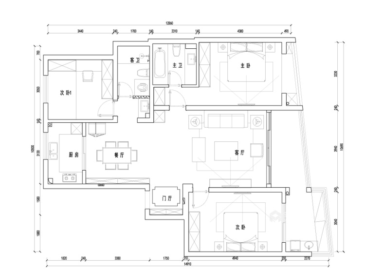 自在的享受自然,享受文化的新中式住宅-平面设计图及设计说明