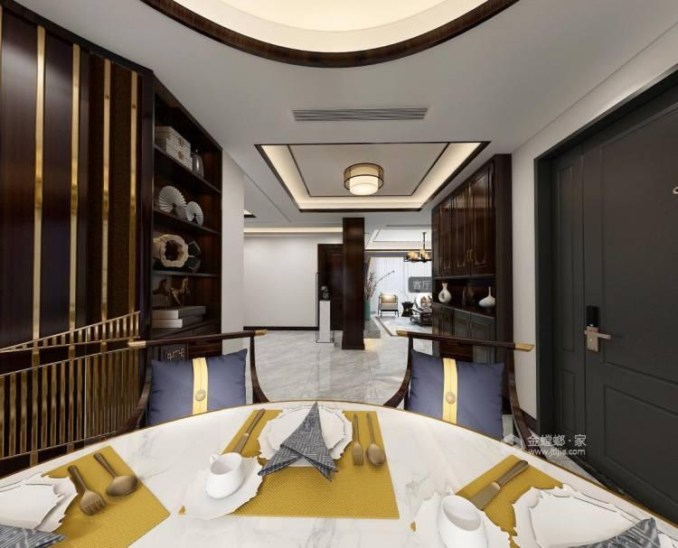 新中式古典风-餐厅效果图及设计说明