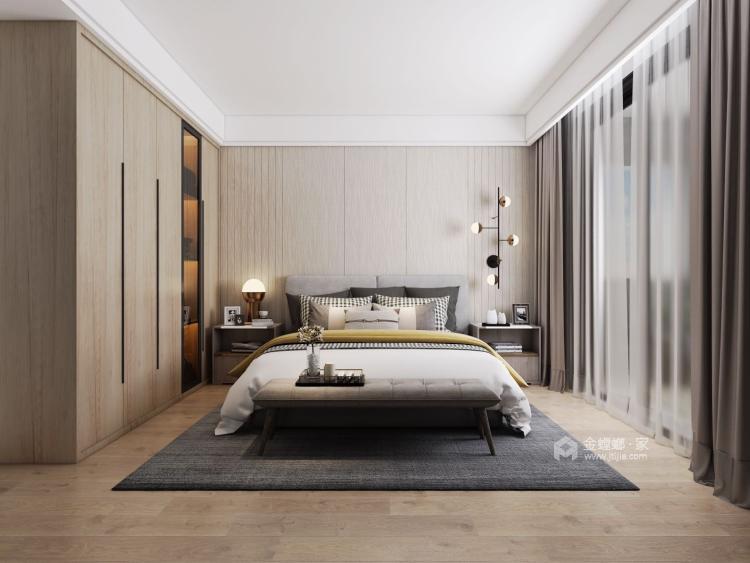 现代风-卧室效果图及设计说明