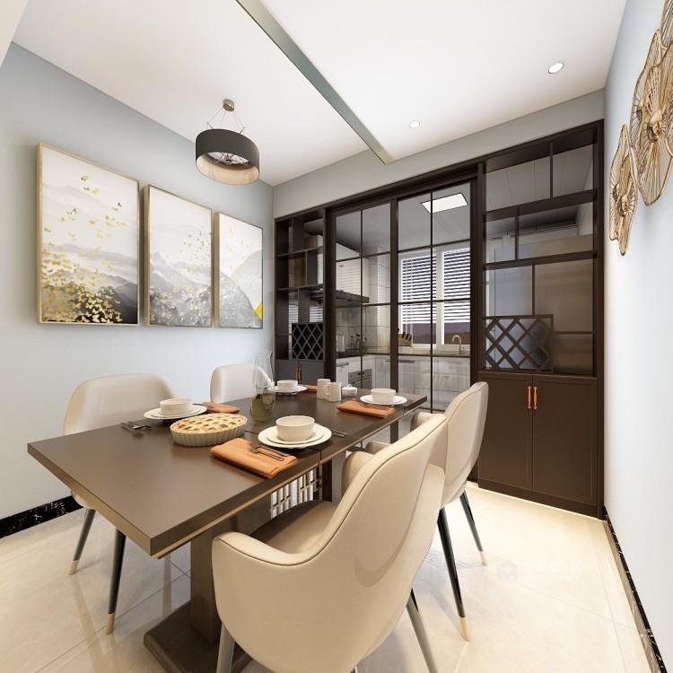 轻奢的风格,凸显业主的生活品味-餐厅效果图及设计说明