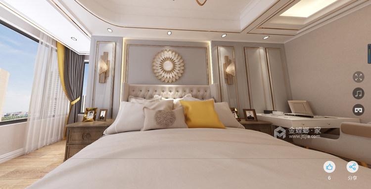 美式轻奢-卧室效果图及设计说明