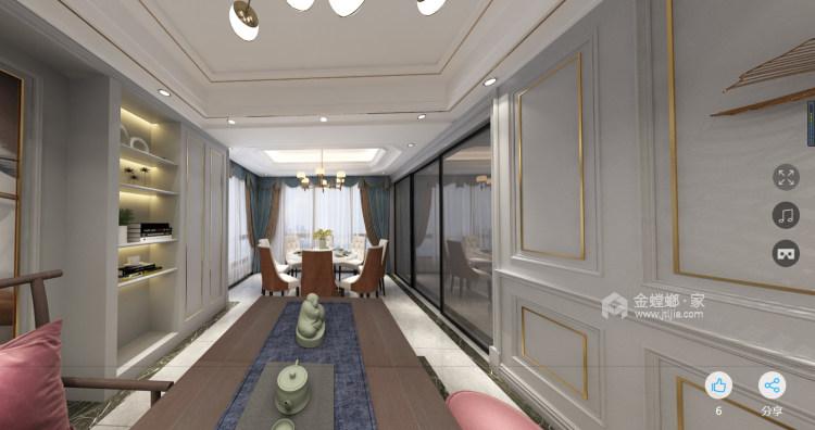 美式轻奢-餐厅效果图及设计说明