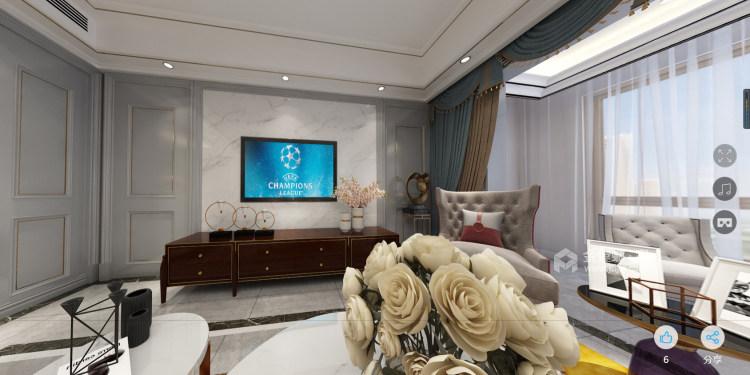 美式轻奢-客厅效果图及设计说明