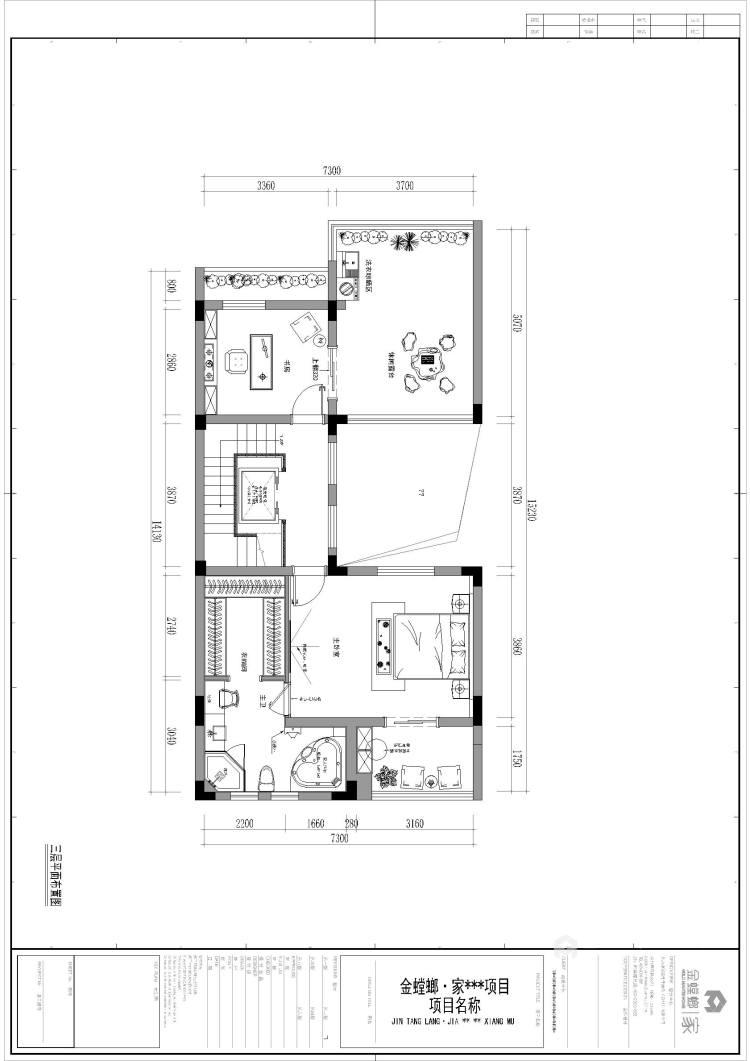 墨韵江南-平面设计图及设计说明