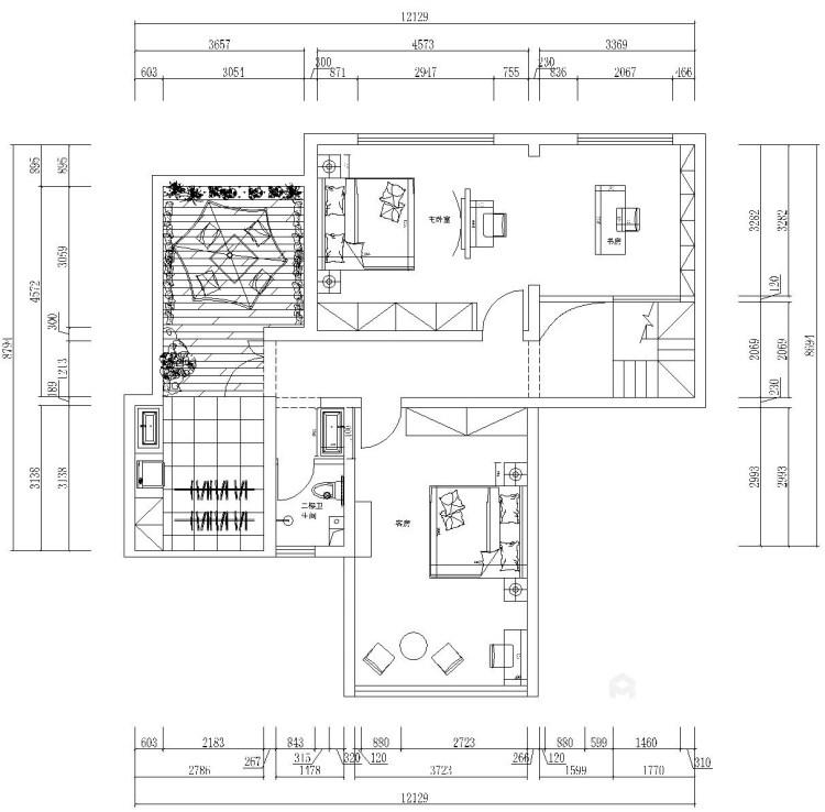 克制的温柔-平面设计图及设计说明