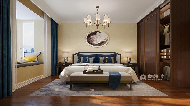94㎡ 三室两厅  中式风格-卧室效果图及设计说明