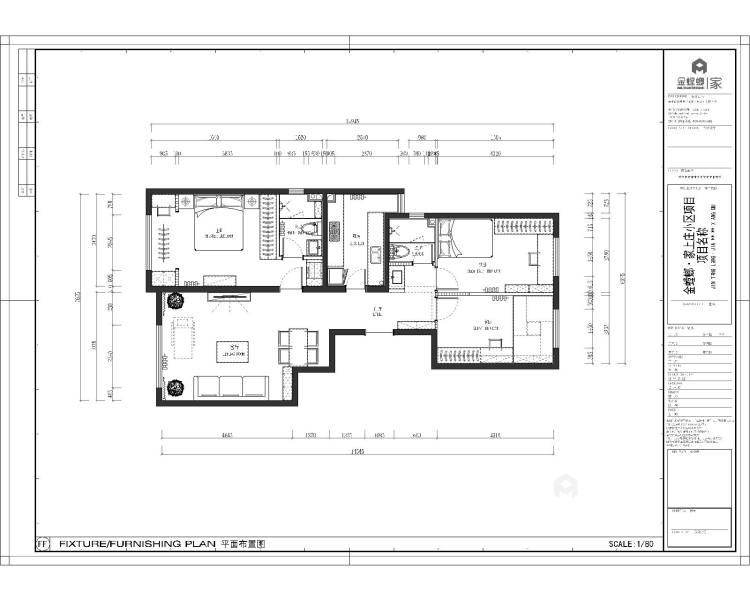 120㎡  三室  现代-平面设计图及设计说明