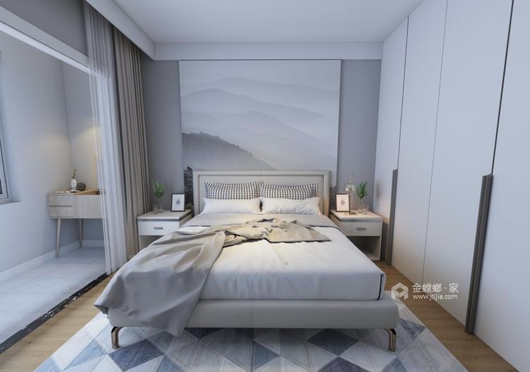 120㎡  三室  现代-卧室效果图及设计说明
