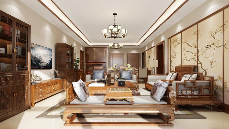 94㎡ 三室两厅  中式风格-客厅效果图及设计说明